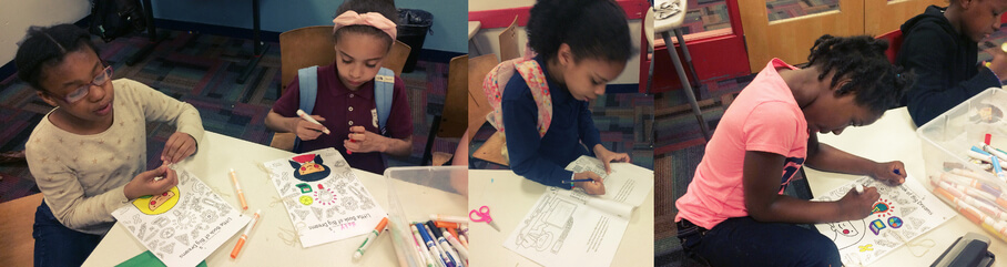 CuSTEMized and GWISE@BU organize fun STEM coloring activities to encourage girls to see themselves as scientists!